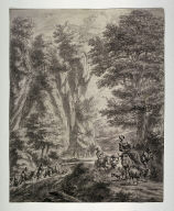 Travellers on a Forest Road