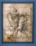 Allegory of Roman leading woman on horseback