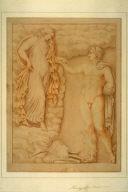 Mythological Scene with Hermes and a Goddess
