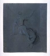 Seated Female Figure, viewed from rear