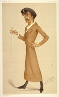 """""""a symphony"""", illustration to accompany the article """"Men of the Day. No. 170/Mr. James Abbott McNeill Whistler"""" in Vanity Fair for January 12, 1878"""