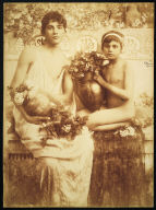 Two boys with Vases of Roses