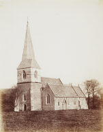 Singleton Church. Now called Sketty Church. 1852. Calotype.
