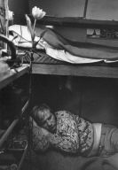 Man Resting in Trailer-Circus Knie