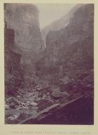 Canon of Kanab Wash, Colorado River, Looking North.