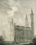 Ruines de l'Abbaye de Fumièges. Coté du Nord.