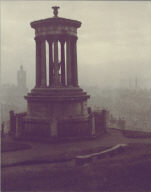 From the Calton Hill, with the Dugold Stewart Memorial
