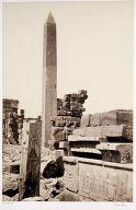Obelisk and Granite Lotus Column Karnac
