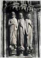 Chartres Cathedral, detail, jamb statues
