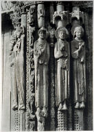 Chartres Cathedral, facade, jamb statues