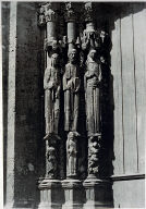 Chartres Cathedral, facade, 3 jamb statues