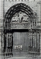 Chartres Cathedral, detail, main portal