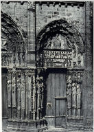 Chartres Cathedral, detail, acade, right portal