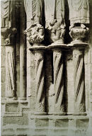 Chartres Cathedral, detail, jamb supports