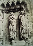 Rheims Cathedral, detail, sculpture