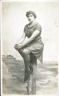 Woman in bathing costume