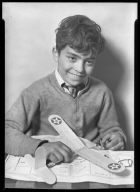 Boy with Model Airplane