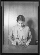 Woman Printing, Leaf Relief