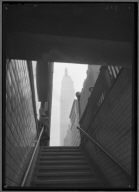 View of Empire State Bldg. from Subway