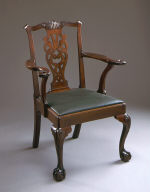 Armchair with Scroll Splat and Eagle-Head Arms