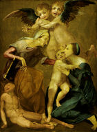 Allegory of Salvation with the Virgin and Child, St. Elizabeth, the Young St. John the Baptist and Two Angels
