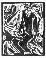 [Elias in der Wuste, 3, no. 12 (1919), frontispiece, Das Kunstblatt, Elijah in the wilderness]