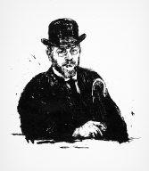 [13, no. 9 (1915), page 392, Selbstbildnis, Kunster und Kümstler, Self-portrait]