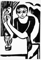 [8, no. 10 (1918), page 155, (woman with bird), Der Sturm, Untitled]