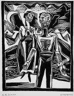 [Untitled, page 61, Schwarzer Grief: Ein Almanach auf das Jahr 1925, (man and women)]