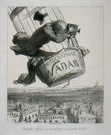[Nadar élévant la Photographie ... la hauteur de l'Art, Le Boulevard. 25 May 1862]