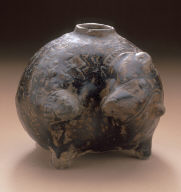 Squat Jar in the Form of a Pangolin