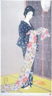 Woman in Summer Kimono