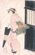 Geisha in Rain