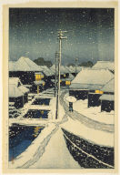 Terajima Village in Twilight Snow