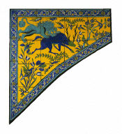 Tile panel for a spandrel