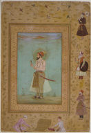 Emperor Shah Jahan (verso), Page of Calligraphy (recto), Folio from the Late Shah Jahan album
