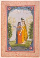 Radha and Krishna Exchange Clothes (Lila Hiv)