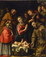 Adoration of the Shepherds with Saints Francis and Carlo Borromeo
