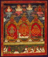 Three Mother Goddesses (Three Matrakas--Mahesvari, Kumari, and Chamunda)