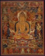 Buddha Ratnasambhava and Acolytes