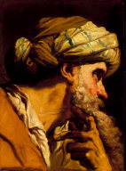 """Study of an Oriental Head for """"The Marriage at Cana"""""""