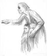 [Woman entrusts herself to Death, Frau vertraut sich dem Tod an, plate 1, Tod, Death]