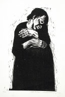 [Sieben Holzlschnitte zum Krieg, Die Witwe 1, The widow 1, Seven woodcuts on the war, plate 4]