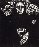 [Seven woodcuts on the war, plate 7, Sieben Holzlschnitte zum Krieg, Das Volk, The people]