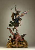 Saint Michael Casting Satan into Hell