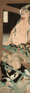 Lu Chi Shen in Drunken Rage Smashing Guardian Figure at Temple on Five-Crested Mountain