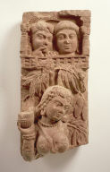 Railing Pillar with Woman and Onlookers