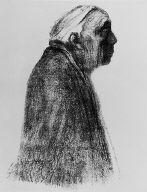 [Self-portrait in profile, facing right, Selbstbildnis im Profil, nach rechts]