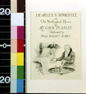 Hearken ye sprightly : an old New England hymn