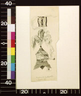 Plumed helmeted knight smoking pipe and letter I